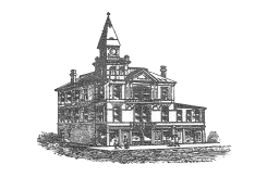 Drawing of the Hoffner Lodge